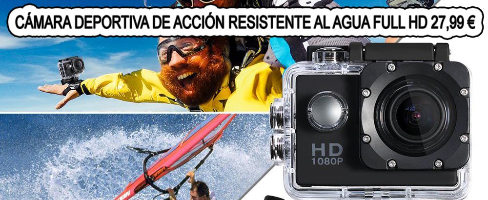 Cámara Deportiva de Acción, Resistente al Agua, FULL HD, 1080P, Lente de 170 con Pantalla LCD 4.png