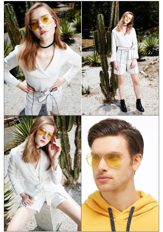 gafas con lentes amarillas