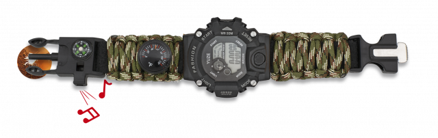 RELOJ DIGITAL PARACORD