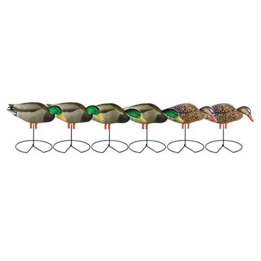 PG MALLARDS FB FEEDER W-FLOCKED DRAKE HEADS.