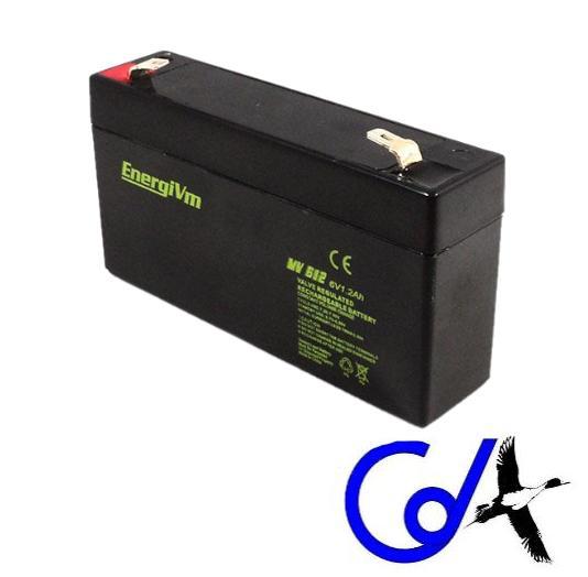 BATERIA DE PLOMO ENERGIVM MV612 (6V./V1.2AMP)