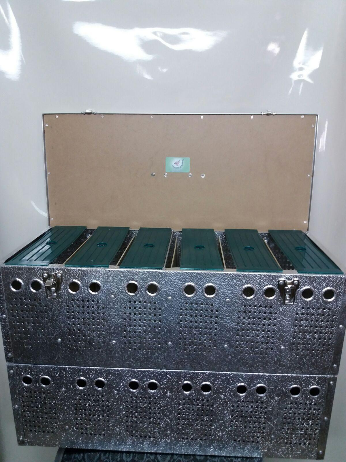 Transportín aluminio (12 palomas)