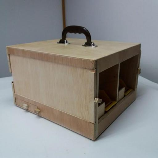 Transportín Artesanal de madera marina (2 palomas) [2]