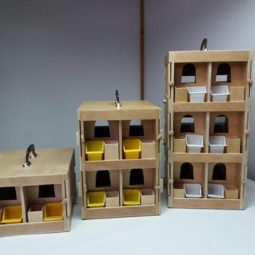 Transportín Artesanal de madera marina (2 palomas) [3]