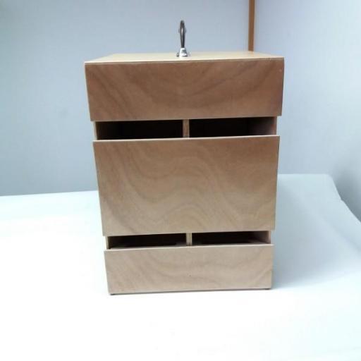 Transportín Artesanal de madera marina (4 palomas) [3]