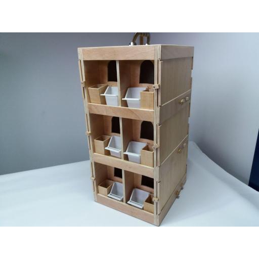 Transportín Artesanal de madera marina (6 palomas) [2]