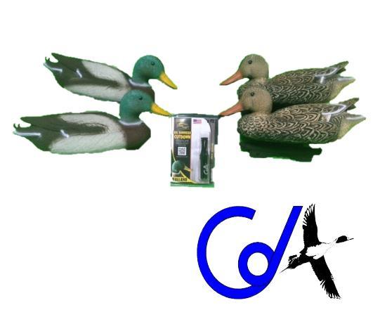 PACK RECLAMO CDA + 4 CIMBELE DE ANADE REAL (2 MACHOS Y 2 HEMBRAS)