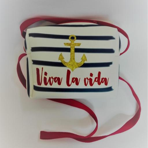 Bolso bandolera marinero