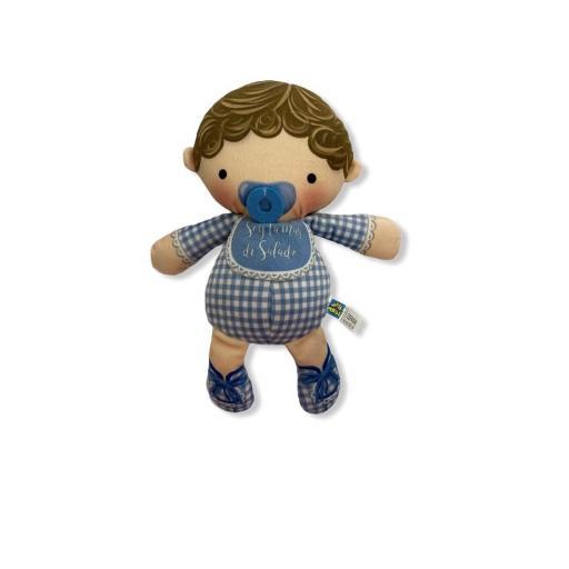 Muñeco niño azúl