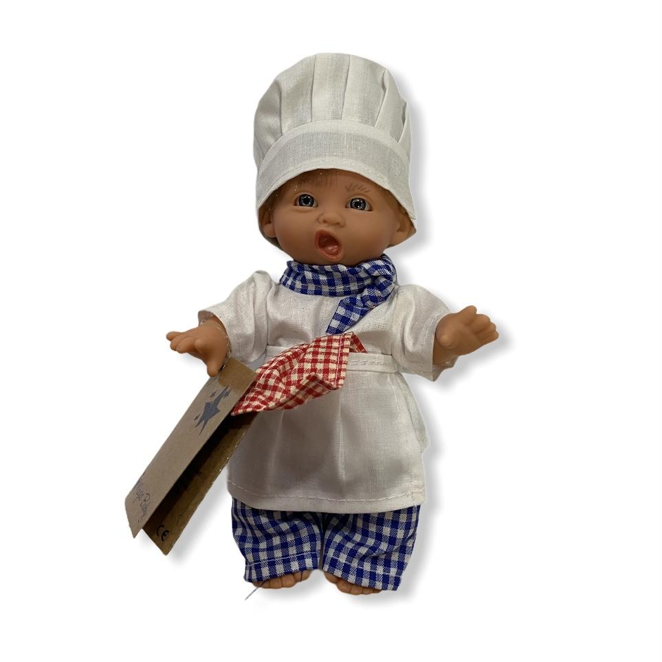 Muñeco cocinero gorro blanco