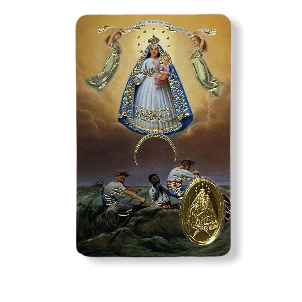 Estampa con medalla Virgen Caridad del Cobre