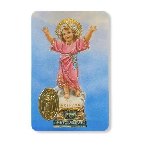 Estampa con medalla Niño Divino Jesús