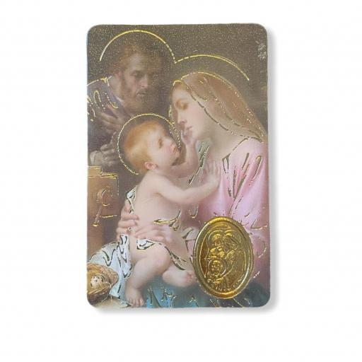 Estampa con medalla Sagrada Familia