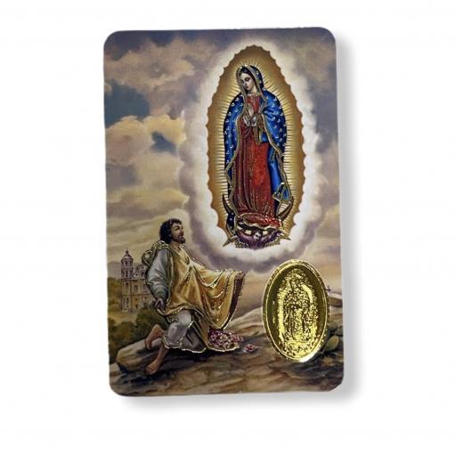 Estampa con medalla Virgen de Guadalupe