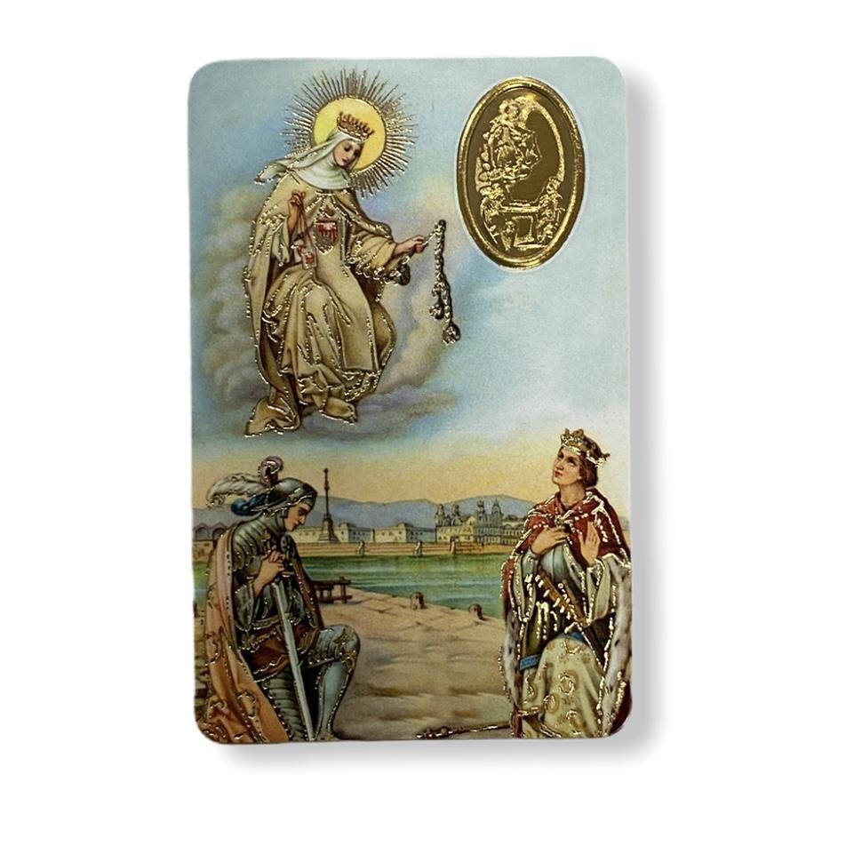 Estampa con medalla Virgen de la Merced