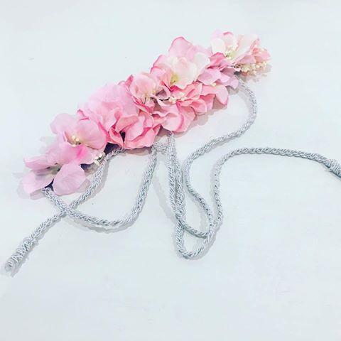 Cinturón flores cordón trenzado