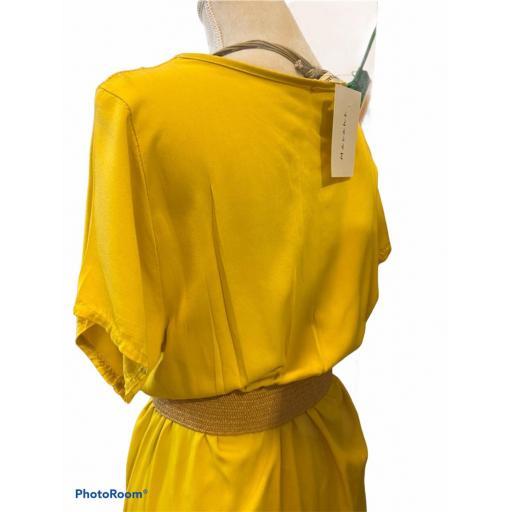 Vestido largo amarillo  [2]