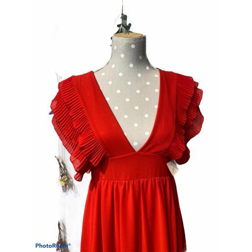 Vestido largo rojo [1]