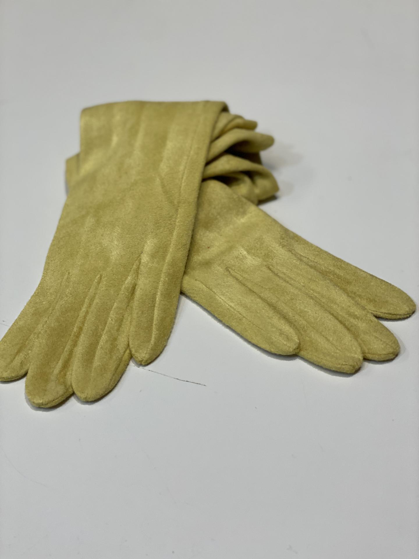 Guantes antelina amarillo