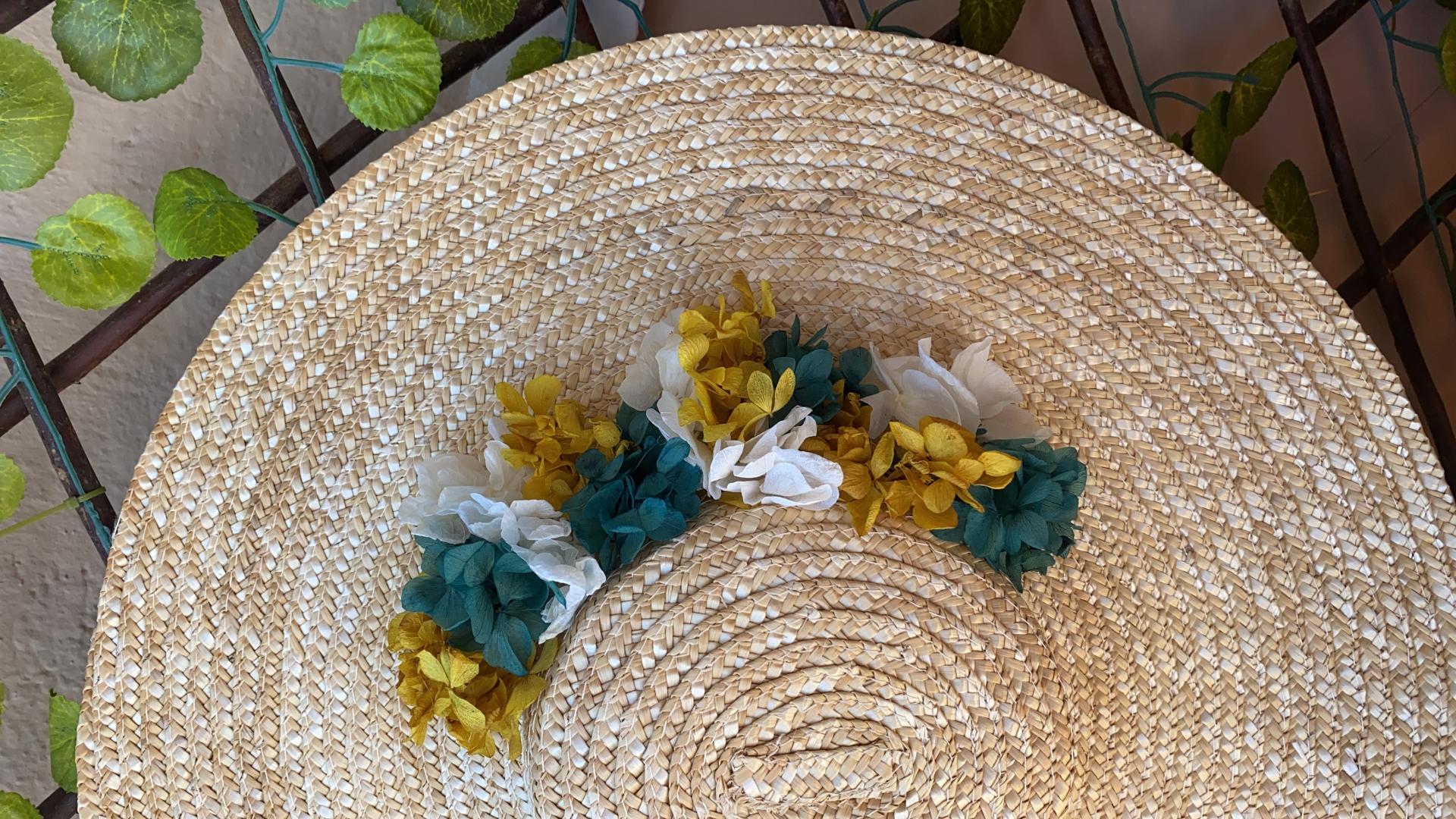 Pamela de flores preservadas
