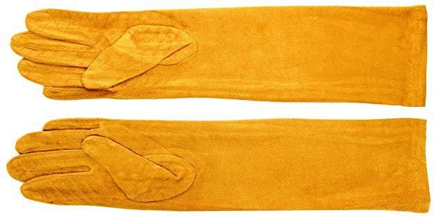 Guantes antelina mostaza