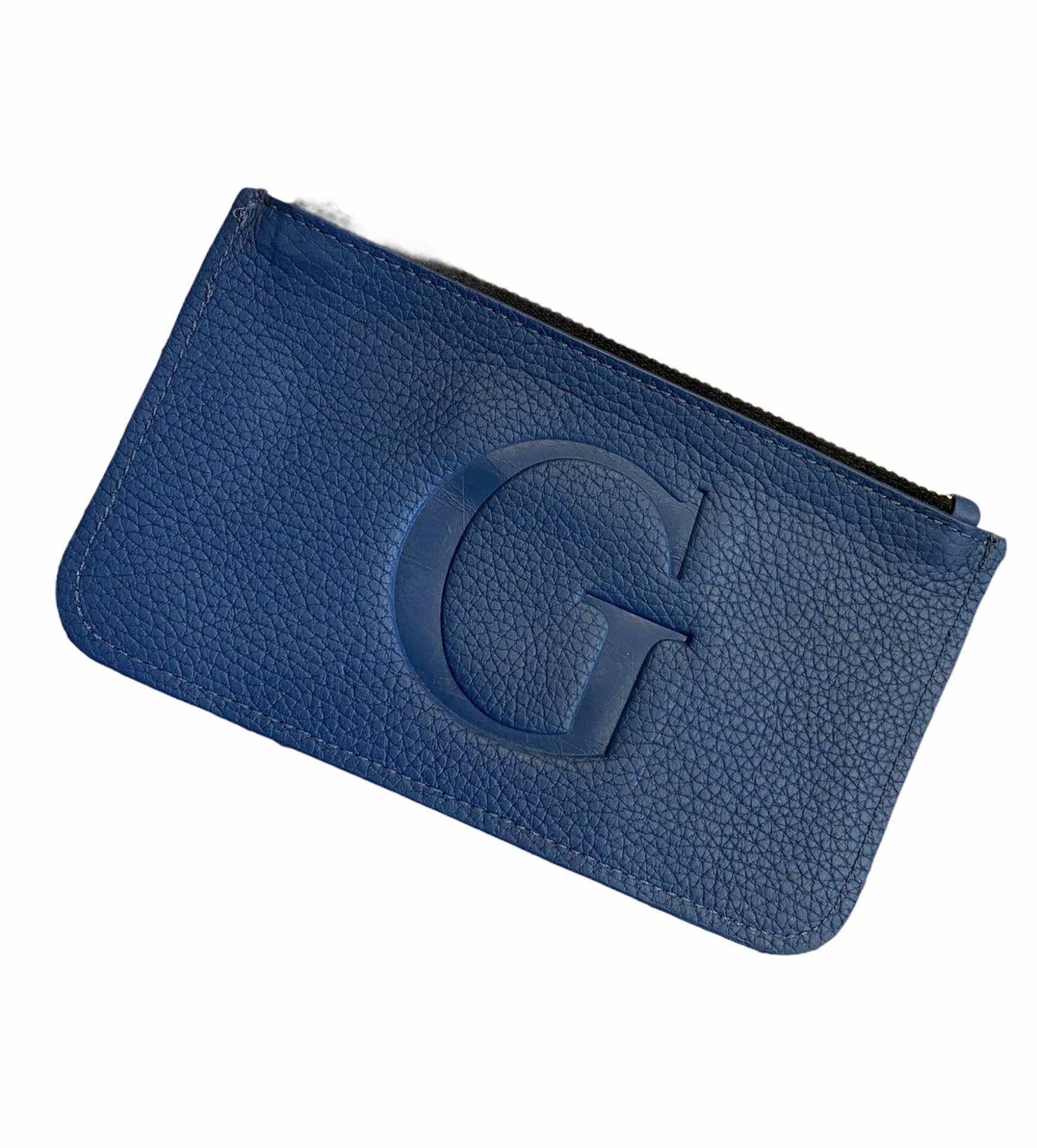Monedero grande azul azafata G