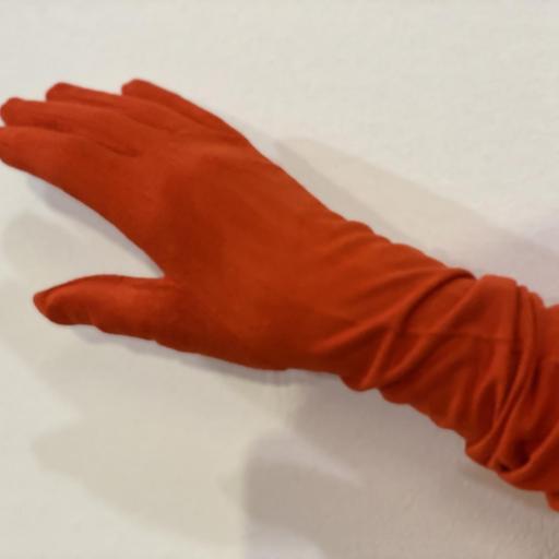 Guantes antelina color rojo anaranjado [0]