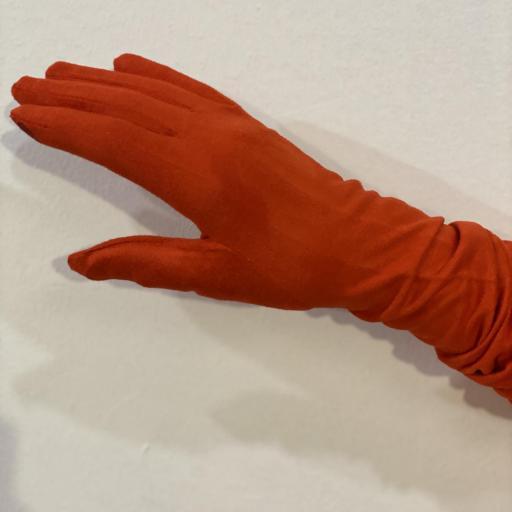 Guantes antelina color rojo anaranjado [1]