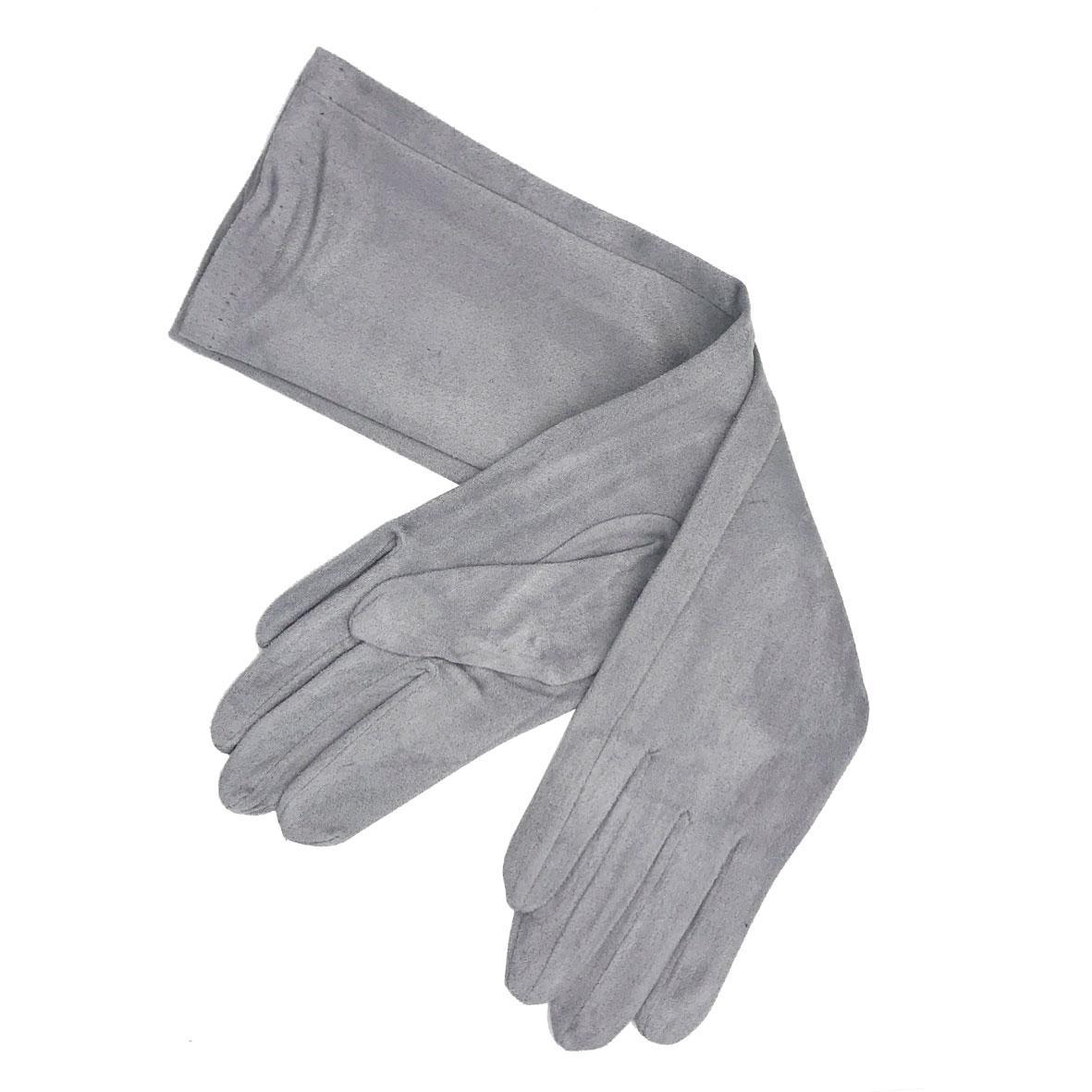 Guantes antelina gris