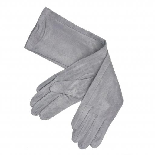 Guantes antelina gris [0]