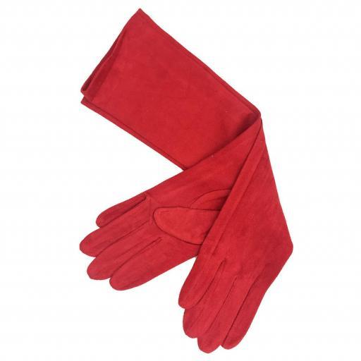 Guantes antelina rojos [0]