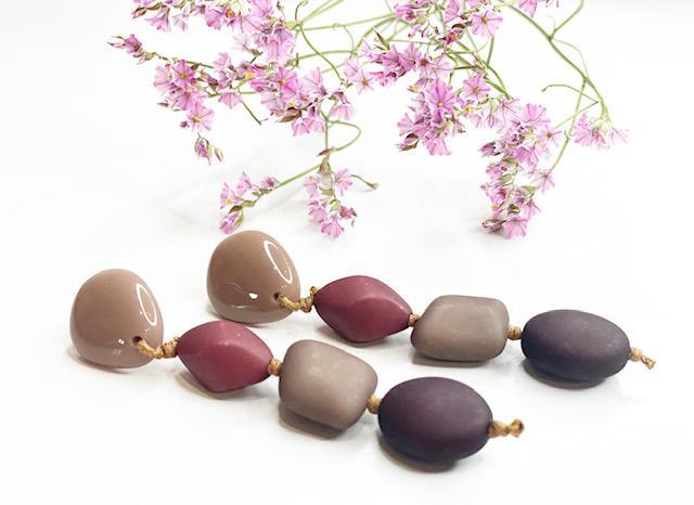 Pendientes chocolate