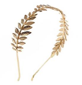 Diadema hojas doradas