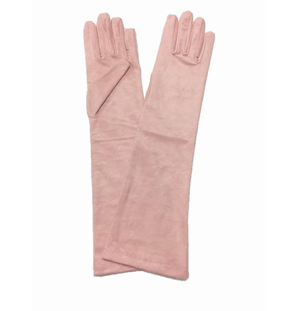Guantes antelina rosa