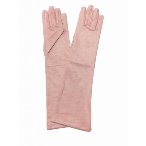 Guantes antelina rosa  [0]
