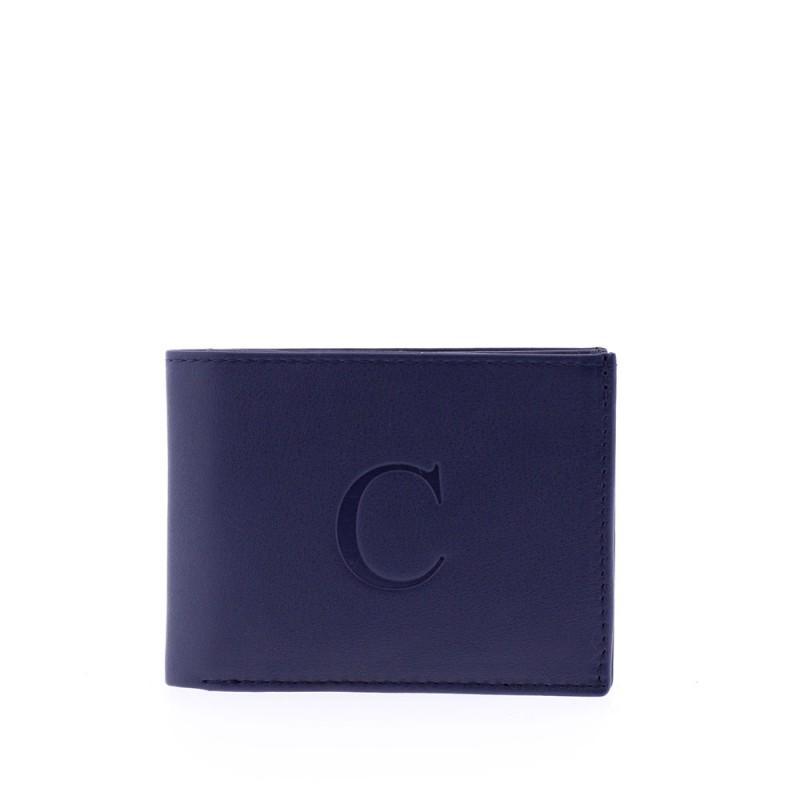 Cartera monedero y tarjetero azul