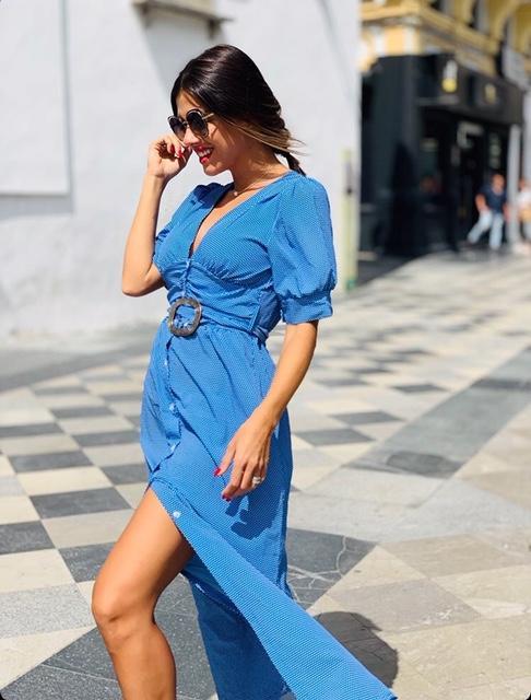 Vestido Azul y blanco