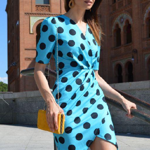 Vestido lunares azul [0]