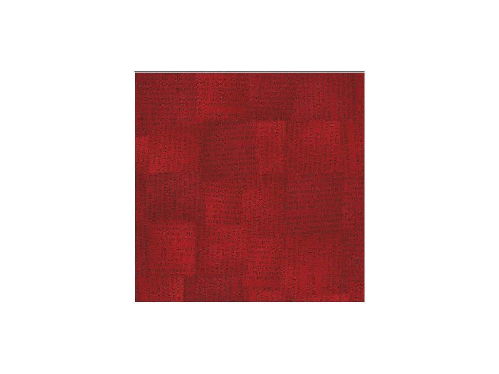 Tela patchwork roja con frases