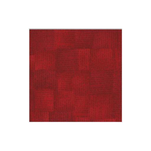 Tela patchwork roja con frases [0]