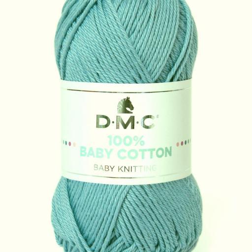 Hilo DMC 100% Baby Cotton 767 Verde azulado