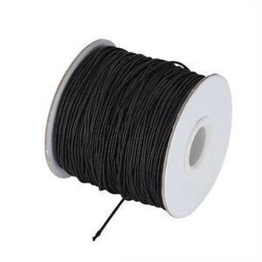 Cordón de goma negro n°1
