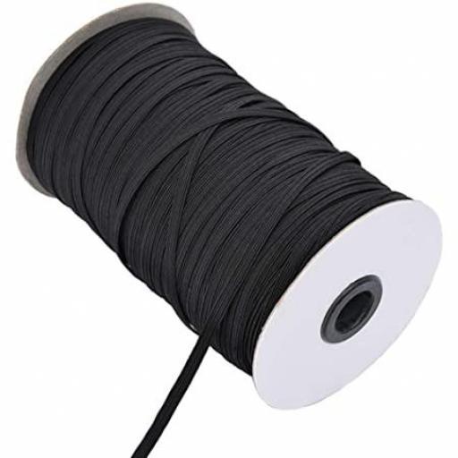 Goma plana negra 5 mm