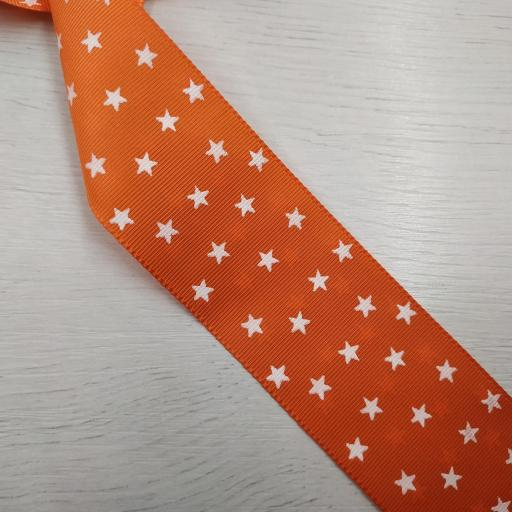 Cinta falla naranja con estrellas blancas [0]