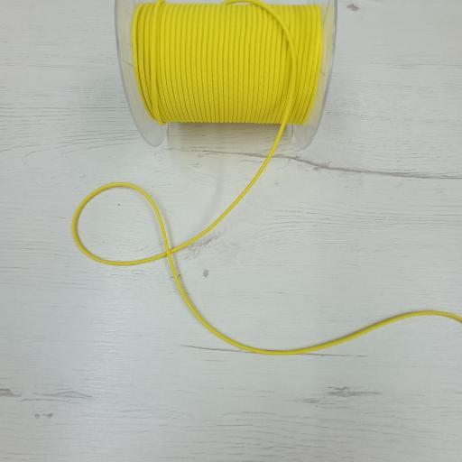 Cordón de goma amarillo canario n°3