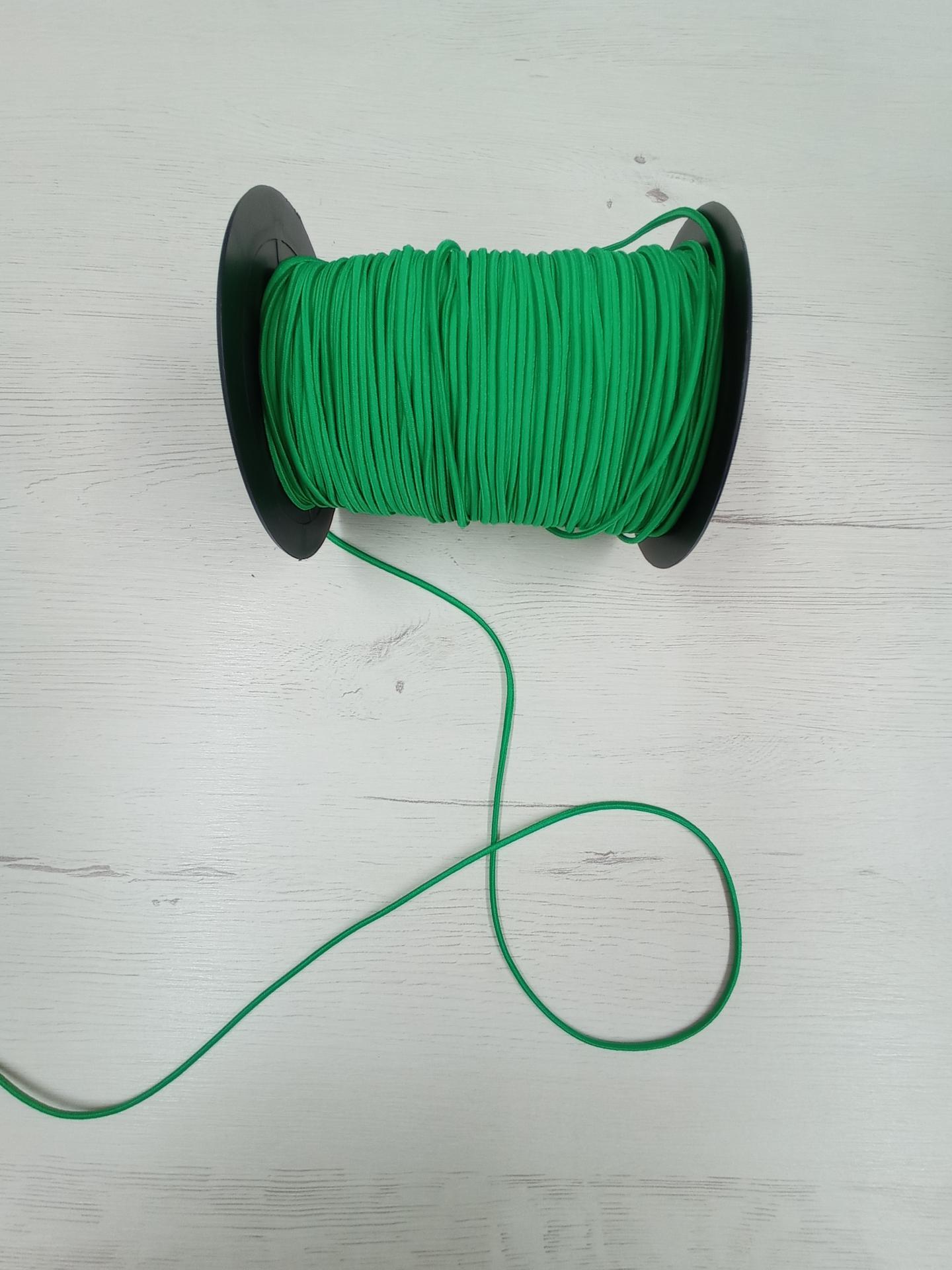 Cordón de goma verde n°3