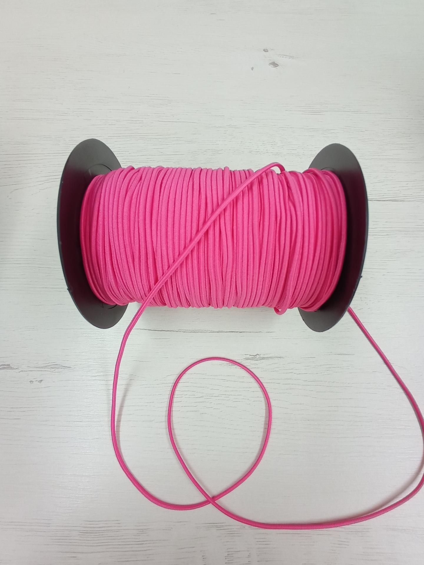 Cordón de goma rosa neón n°3