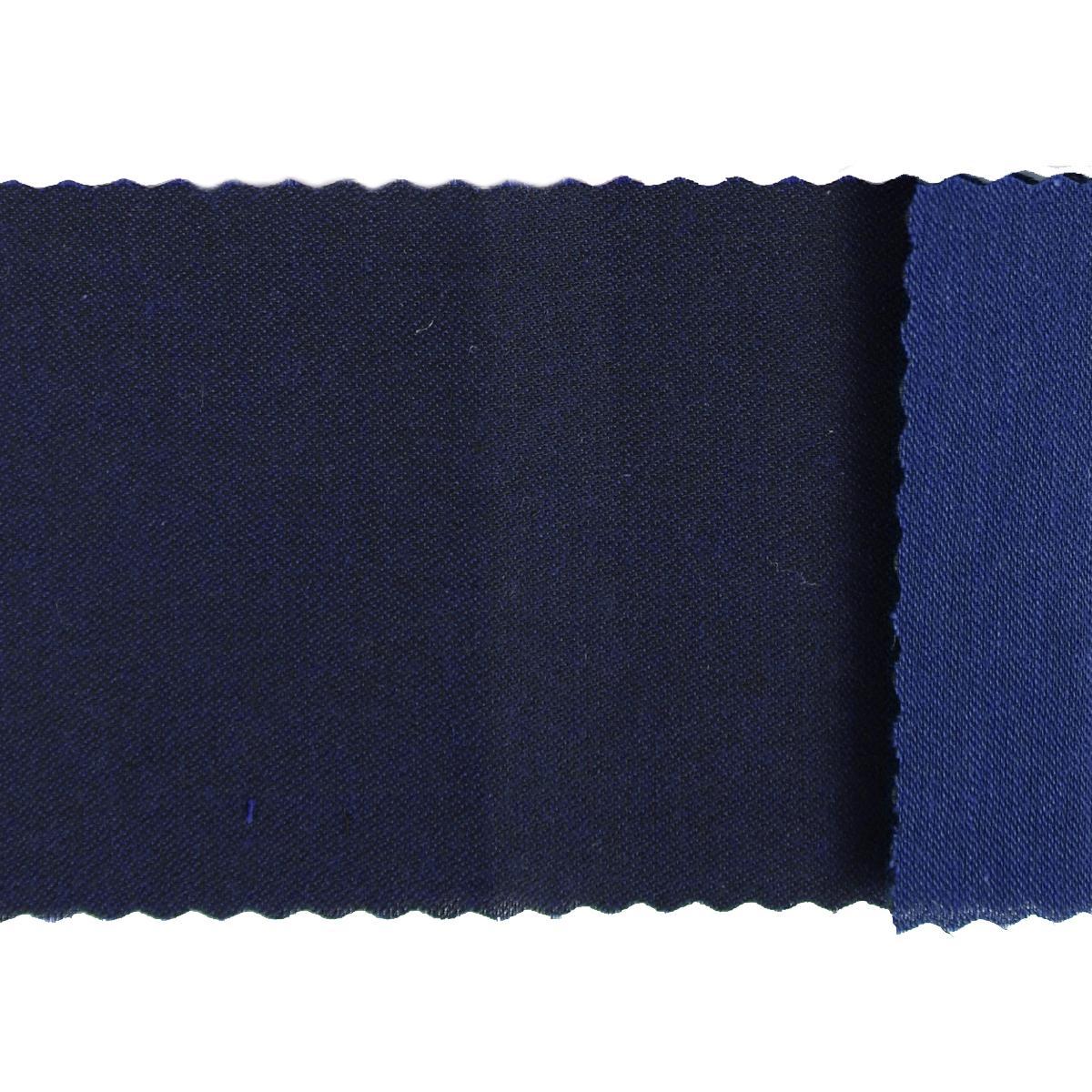 Tela algodón sarga hidrófuga azul marino