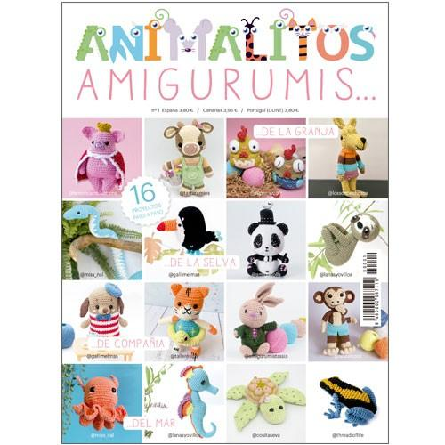 Revista Animalitos Amigurumis con 16 proyectos