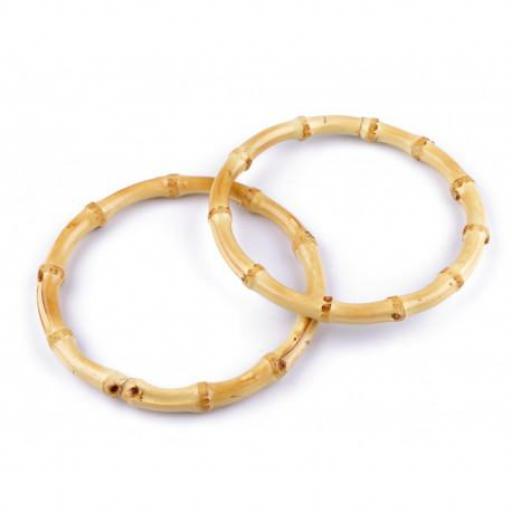 Asas de bambú redondas